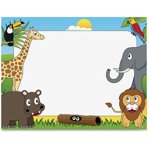 Geographics Animal Theme Border Certificates 49991