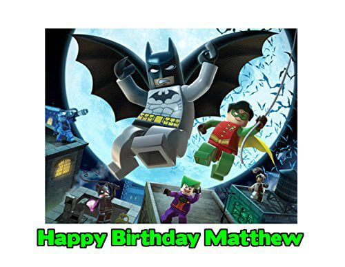 Lego Batman Edible Frosting Image Photo Cake Topper Sheet 14