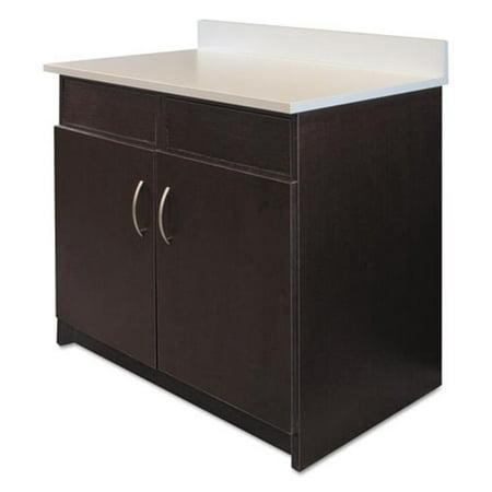 Image of Alera Plus BR104ES Hosp. Base Cabinet, 2 Doors/2 Flipper Doors, 36w x 24d x 34h, Espresso/White