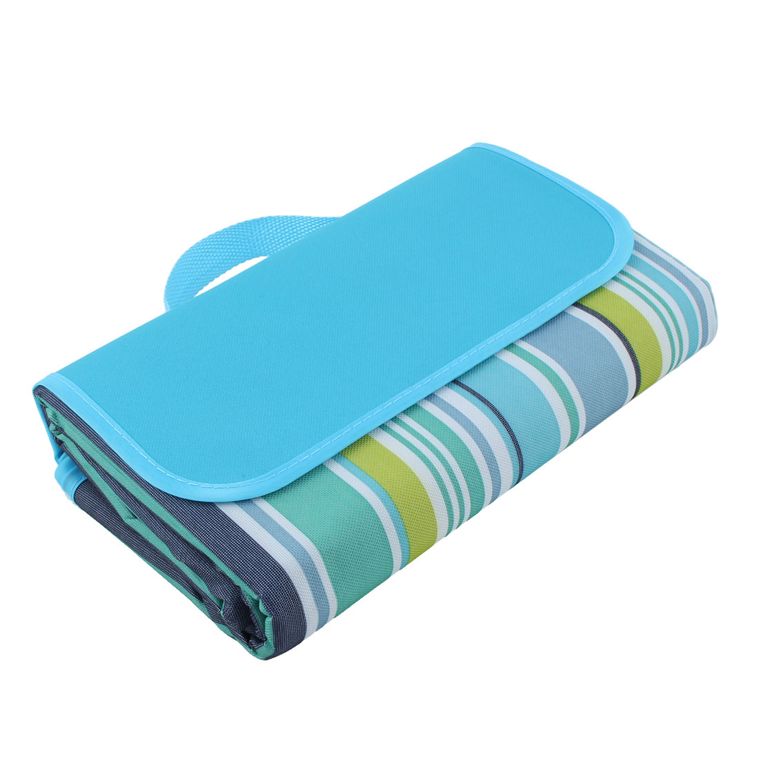 Outdoor Water Resistant Travel Camping Beach Mat Picnic Blanket Blue 180 X 150cm
