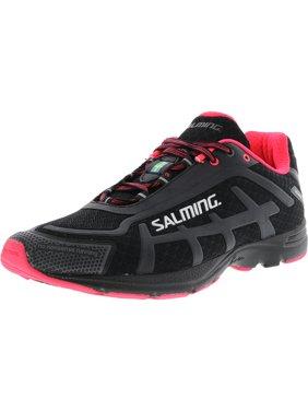 Salming Women's Distance D4 Black / Diva Pink Ankle-High Mesh Running Shoe - 9M