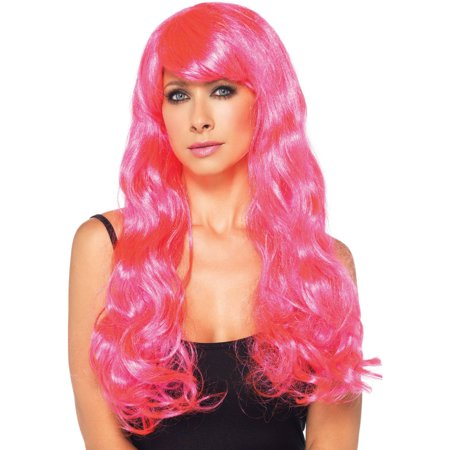 Leg Avenue Neon Star Long Wavy Wig Adult Halloween Costume Accessory