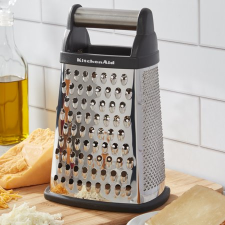 KitchenAid Stainless Steel Box Grater, Black Handle, Dishwasher -