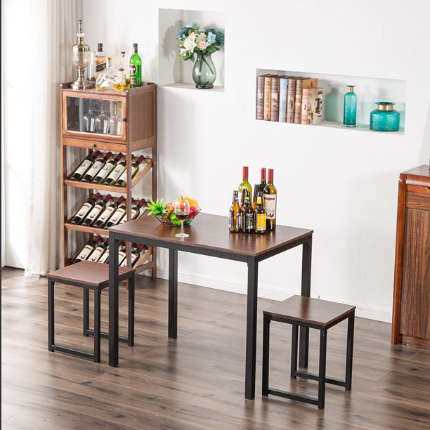 Dining Table Set Yofe Kitchen With Chair For 2 Modern 3 Piece