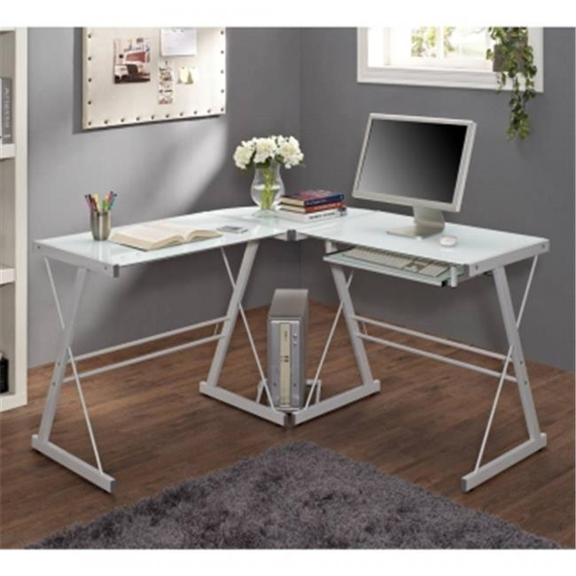 Walker Edison Furniture D51W29 Computer Desk - White