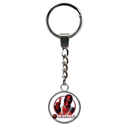 Deadpool Keychain Key Ring Marvel Comics 2018 Movies Cartoon Superhero Logo Theme Ryan Renyolds Premium Quality Detailed Cosplay Jewelry Gift Series - Deadpool Cosplay Buy
