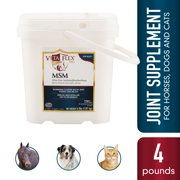 Vita Flex Pro MSM Quality Joint Supplement for Horses, Dogs and Cats, White 4 Pounds