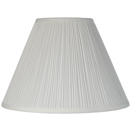 Brentwood Vintage Empire Lamp Shade with Harp Pleated Cone White Fabric 6.5x15x11 - -