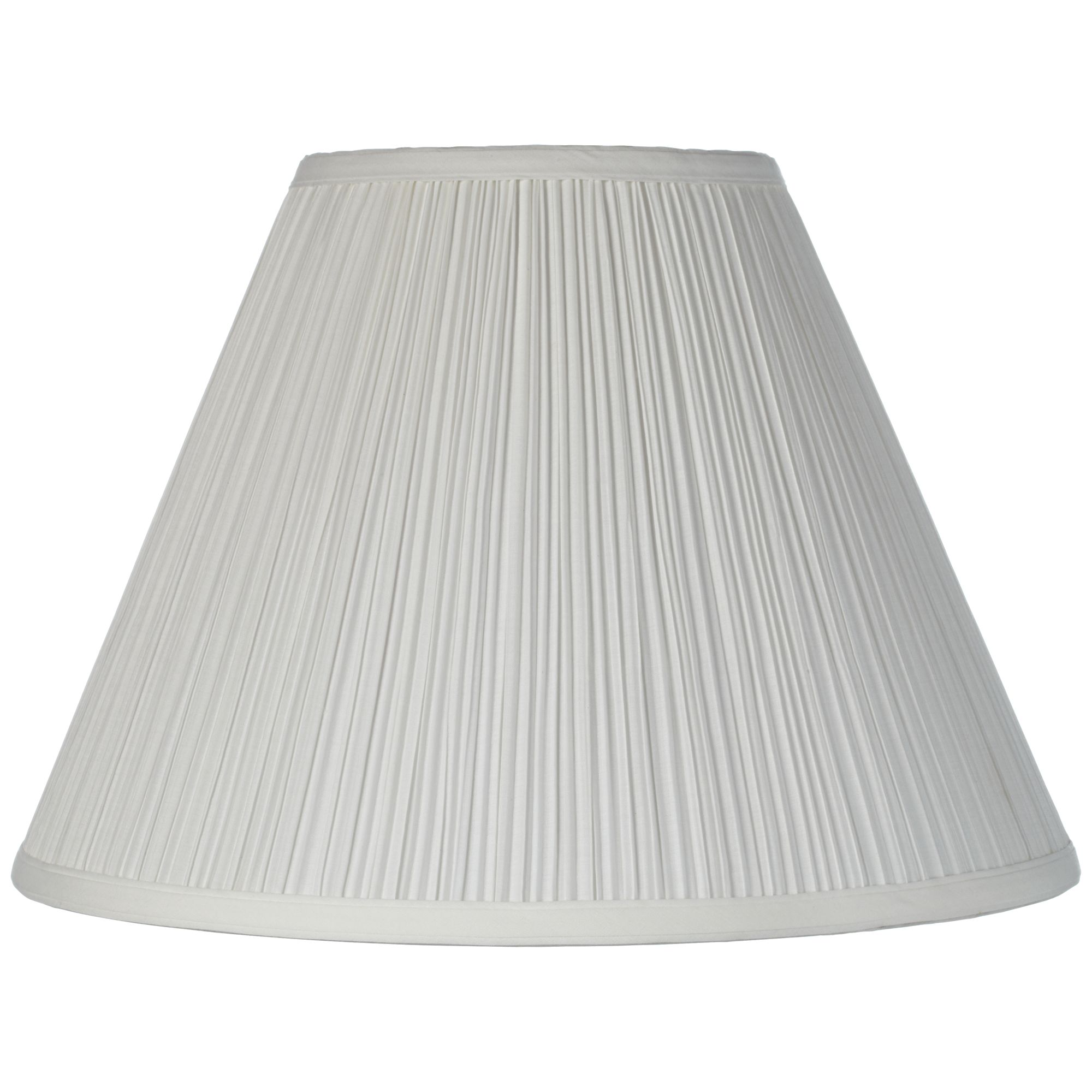 Brentwood Vintage Empire Lamp Shade with Harp Pleated Cone White Fabric 6.5x15x11 - Spider