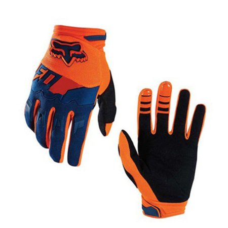 Full-Finger Racing Motorcycle Gloves MTB Bike Mittens Off-Road Riding Gloves Outdoor Sports Gloves orange (Best Mtb Enduro Gloves)