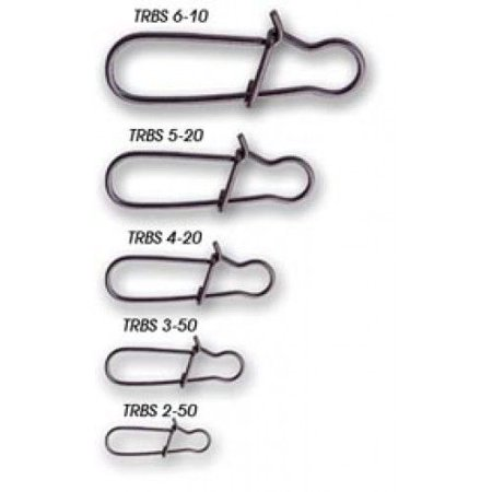 Tsunami Stainless Steel Round Bend Snap TRBS [20-90lb,Size 2 to 6]
