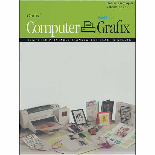 "Grafix Laser/Copier Film, 8.5"" x 11"", 6/pkg, Clear"