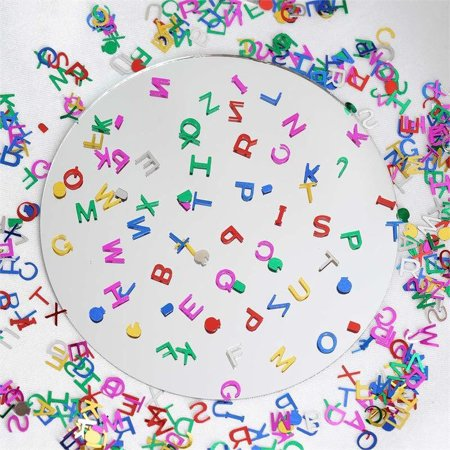 Efavormart Metallic Foil Wedding Party Alphabet Confetti Sprinkles-300PCS-Assorted 3/4 Sleeve Metallic Foil