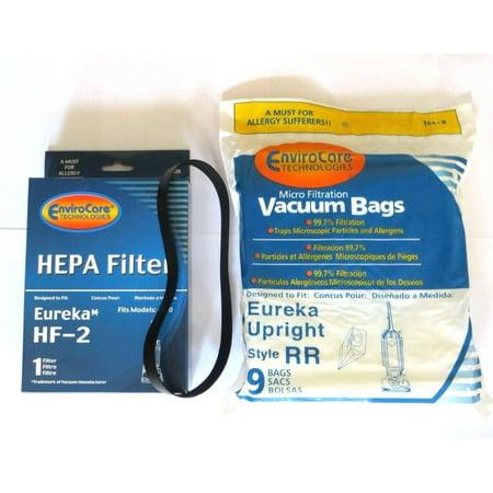 Eureka Rr Micro Filtered Vacuum Set  9 Bags   1 R Belts   1 Hf2 Filter