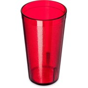 Carlisle 521610 Stackable Shatter-Resistant Plastic Tumbler, 16 oz., Ruby (Case of 72) by Cfs