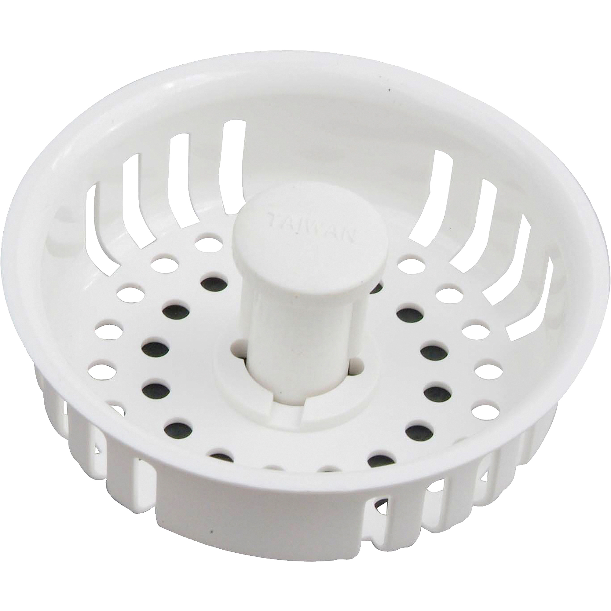 Peerless Plastic Strainer With Stopper, White