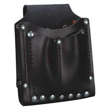 Klein Tools Utility Pouch, Tool, Leather, Black, -