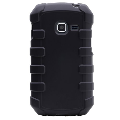 Straight Talk Case for Samsung Galaxy Centura and Discover Rugged, Black