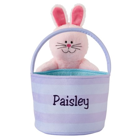Personalized Boppin' Bunnies Easter Basket - Pink Bunny - Personalized Basket