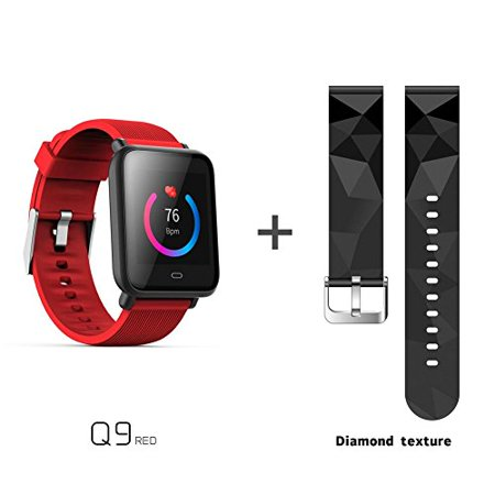 1.54 inch HD Step Counter Heart Rate Sleep Monitor Sport Smart Bracelet Smart Watch Bluetooth Fitness Watch Waterproof Touchscreen iOS/Android (Watch Halloween 1978 Hd)
