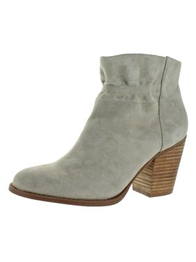 Jessica Simpson Womens Yvette Suede Block Heel Ankle Boots