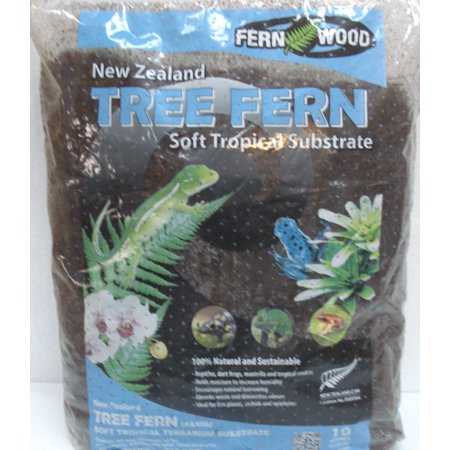 Fern Wood New Zealand Tree Fern Soft Tropical Substrate 10 Liter Bag 10 Liter Small Animal Bedding