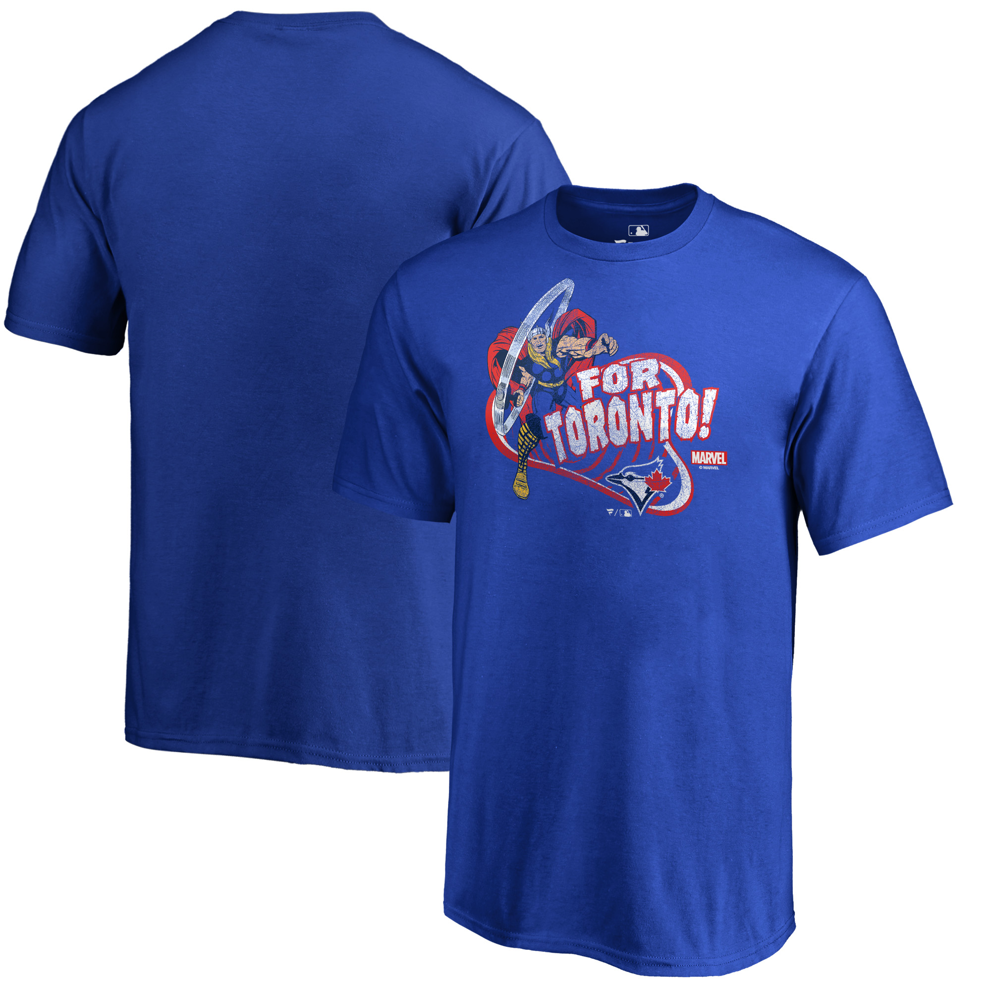 Toronto Blue Jays Fanatics Branded Youth Marvel Thor For Asgard Tri-Blend T-Shirt - Royal
