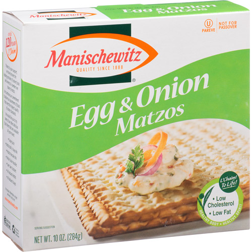 Manischewitz Egg & Onion Matzos, 10 oz, (Pack of 12)