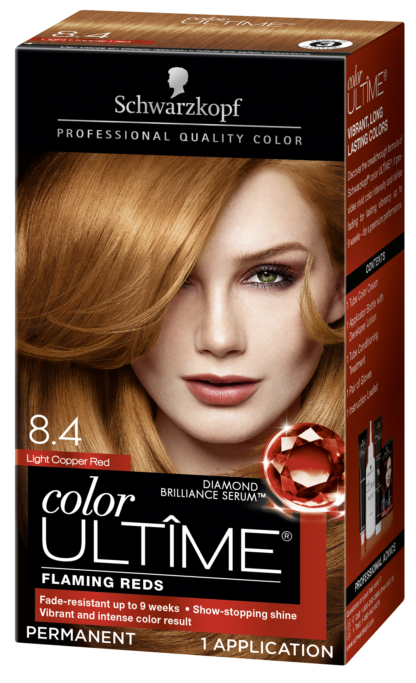 different color reds for hair burgundy schwarzkopf color ultime permanent hair cream 84 light copper red walmartcom