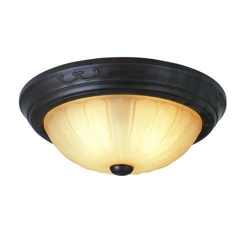 Trans Globe Lighting  21050  Ceiling Fixtures  New Century  Indoor Lighting  Flush Mount  ;Rubbed Oil Bronze