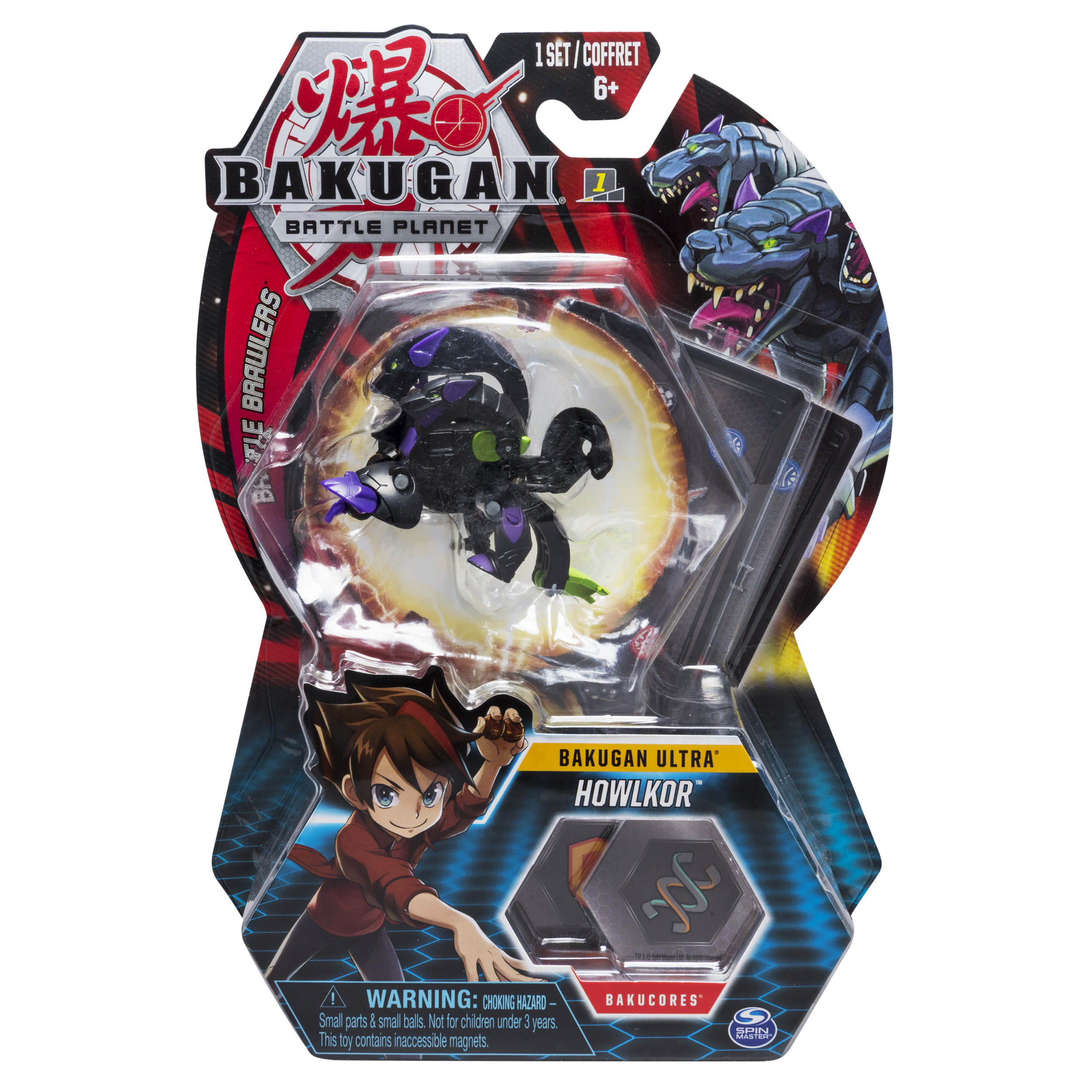 Bakugan Ultra, Howlkor, 3-inch Tall Collectible Transforming Creature, for Ages 6 and Up