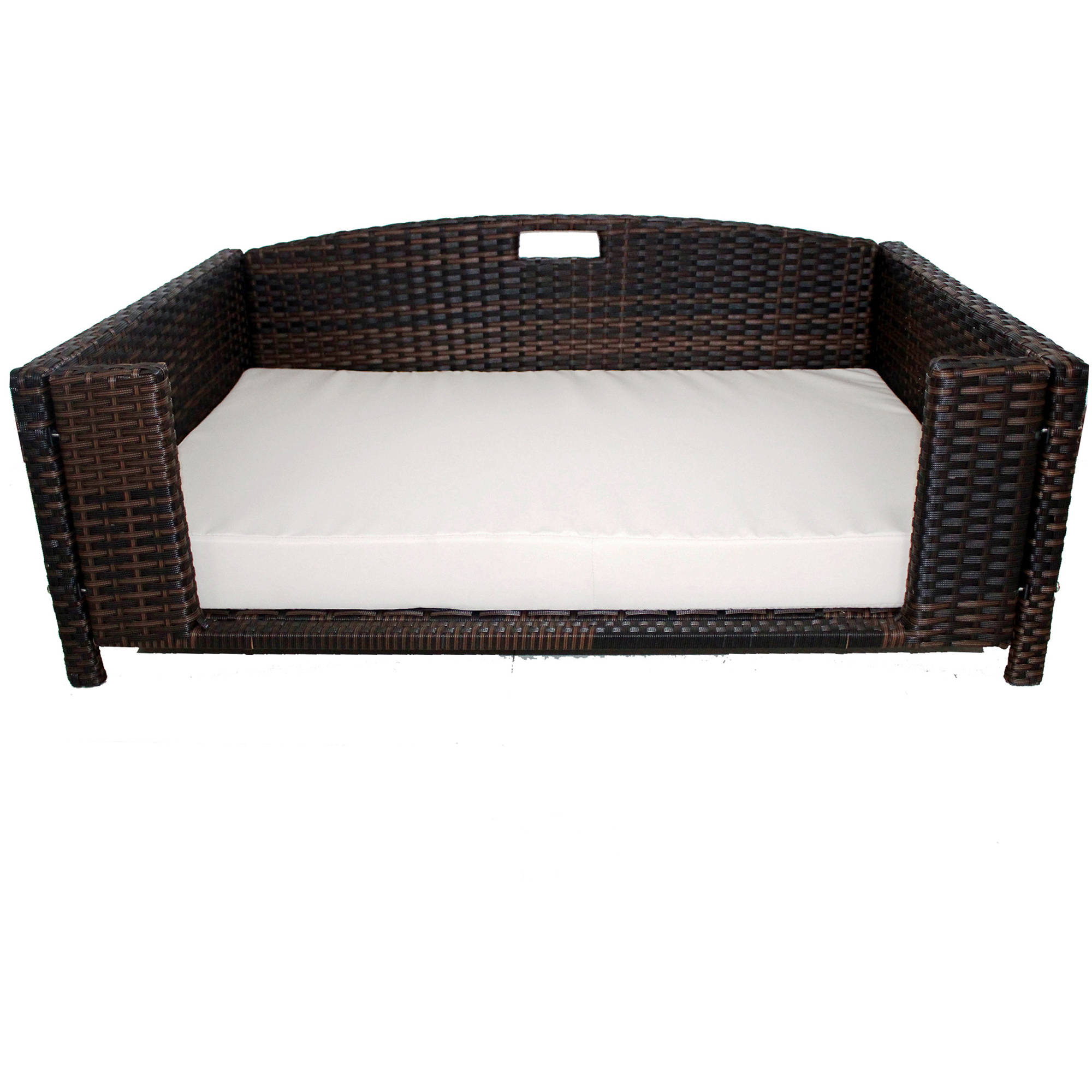 Iconic Pet Rectangular Elevated Rattan/ Wicker Pet Furniture for Dogs / Cats