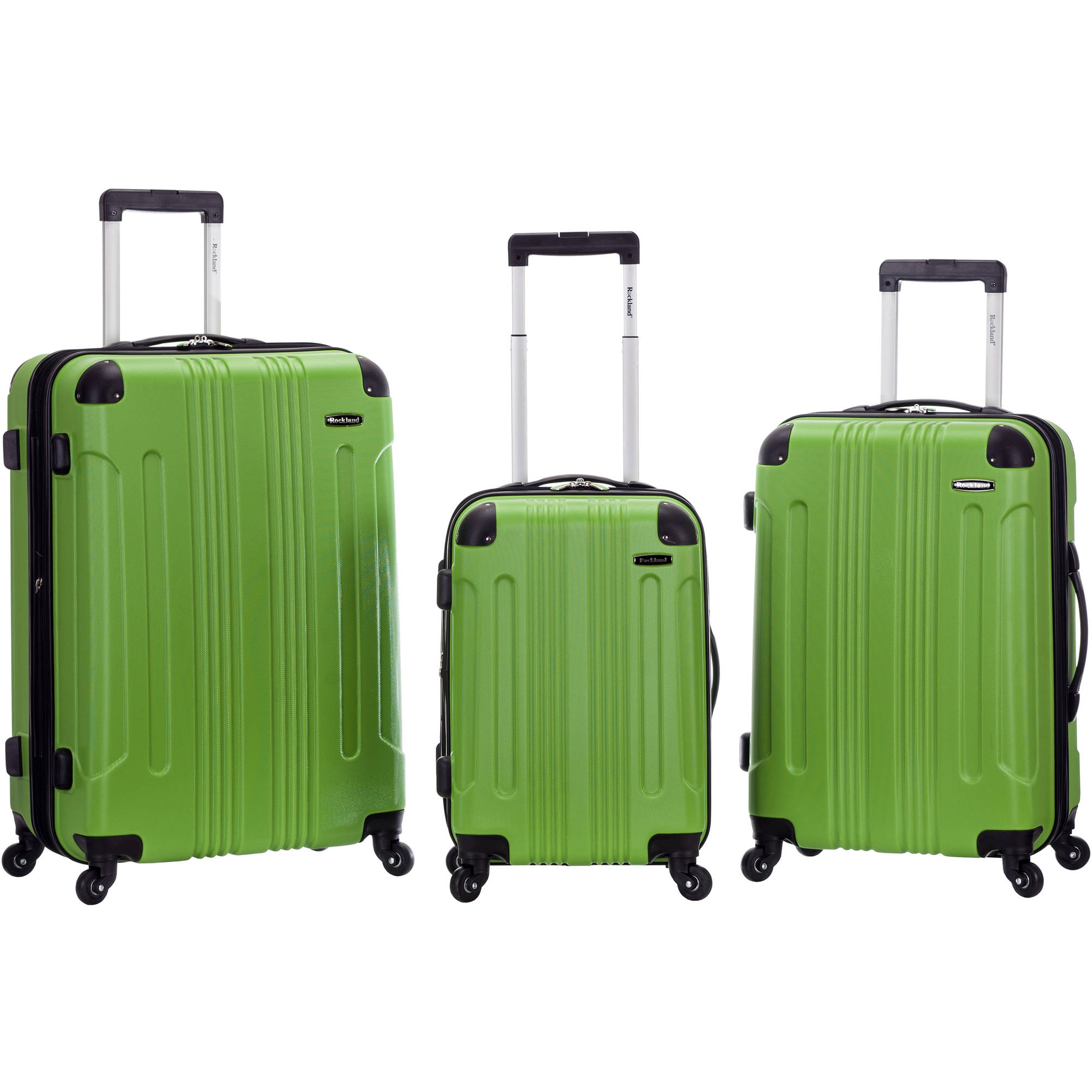 Rockland 3-Piece Sonic ABS Upright Luggage Set