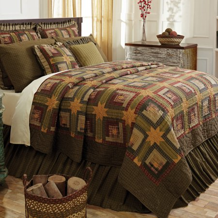 Rustic Country Quilt Set Tea Cabin 5 Piece Set Walmart Com