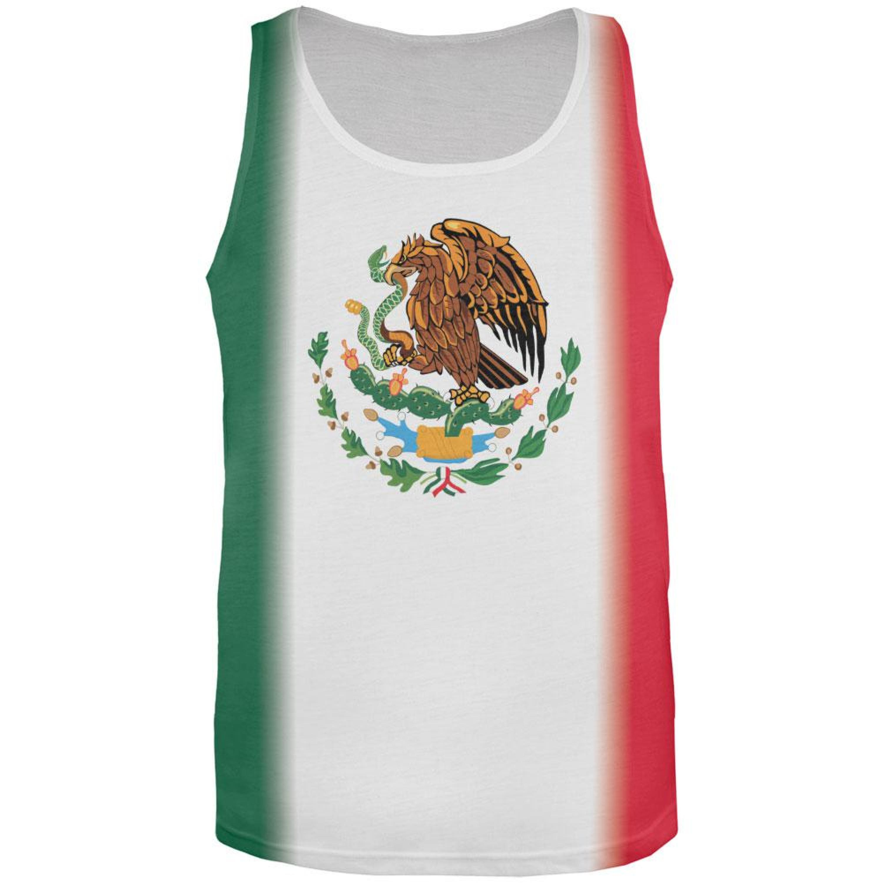 Cinco De Mayo Mexican Flag All Over Adult Tank Top
