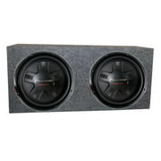 2) Pioneer TS-W311D4 12 Inch 2800W Car DVC Subwoofers + Sealed Enclosure Box
