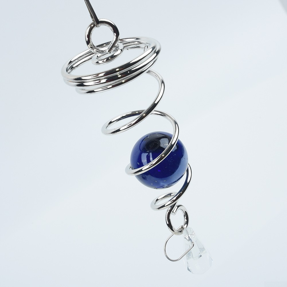 Hanging Wind Chimes Spinner Spiral Rotating Crystal Ball Home Yard Ornament