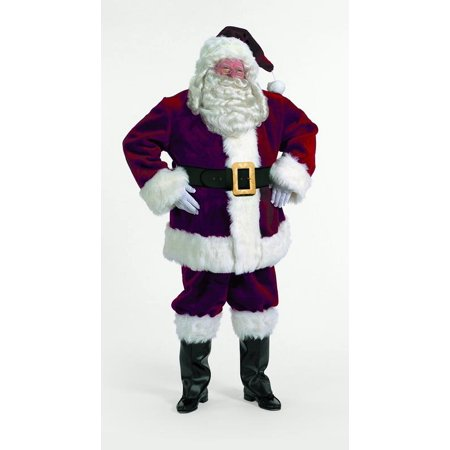 7-Piece Majestic Santa Clause Christmas Suit Costume - Adult Size XXL