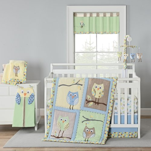 Harriet Bee Kraig Owls Crib Bedding Set (Set of 4)