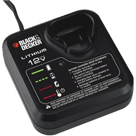 Black and Decker 12V Lithium Charger for LBX12 Battery #