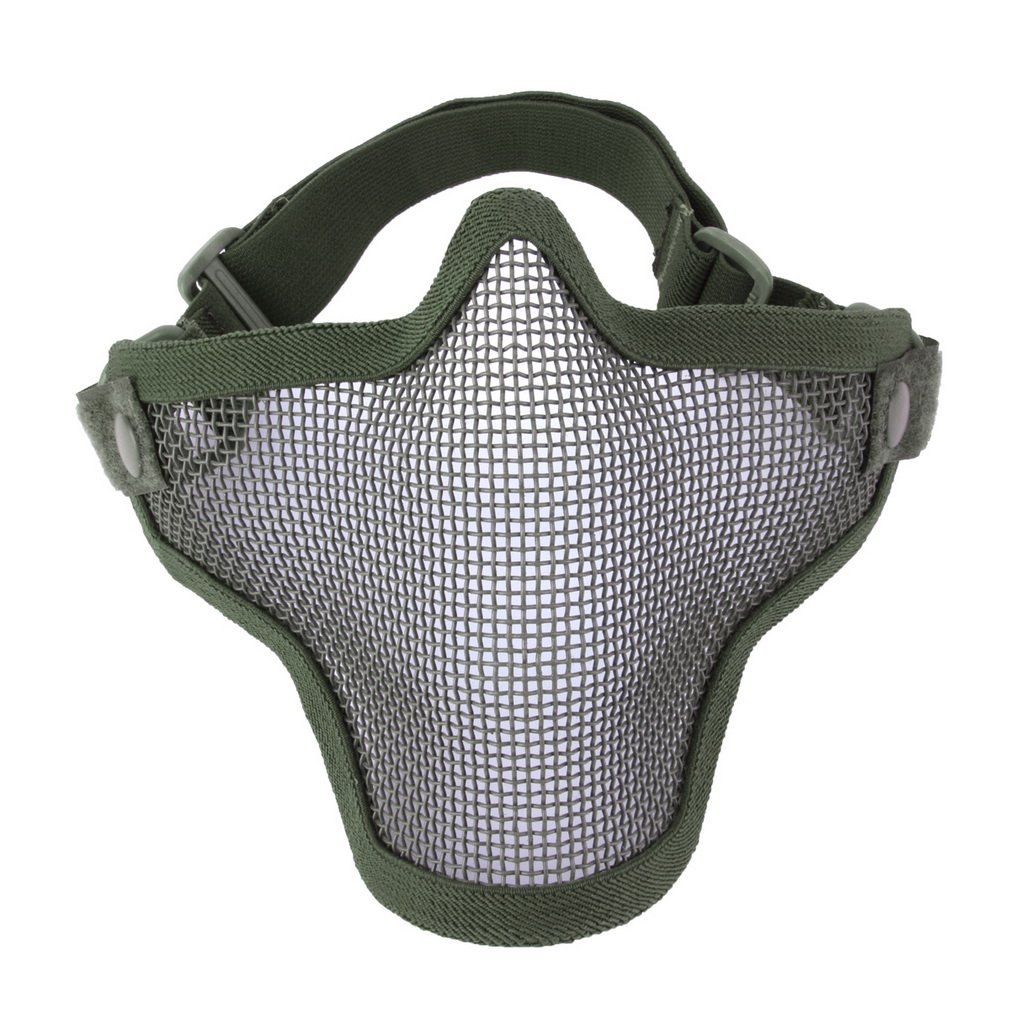 Half Lower Face Ears Coverage Metal Steel Net Mesh Tactical Protective Airsoft Mask for War Game Paintball Hunting by