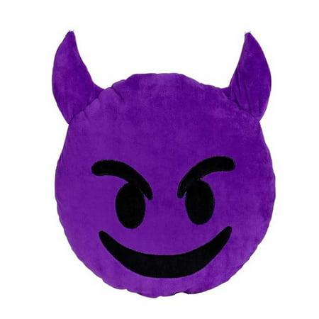 Cp Emoji Purple Devil Pillow Evil Plush Cushion Emoticon Toy