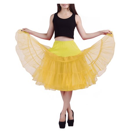 ca44a5d620802 HDE Women's Petticoat Vintage Slip Rockabilly Swing Dress Underskirt Tutu  Skirt (Small, ...