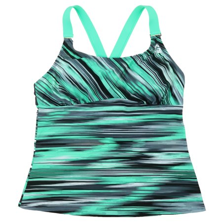 64f93a53e212f Gerry - Gerry Women's Athletic Tankini Top with Built in Bra (Small, Wasabi)  - Walmart.com