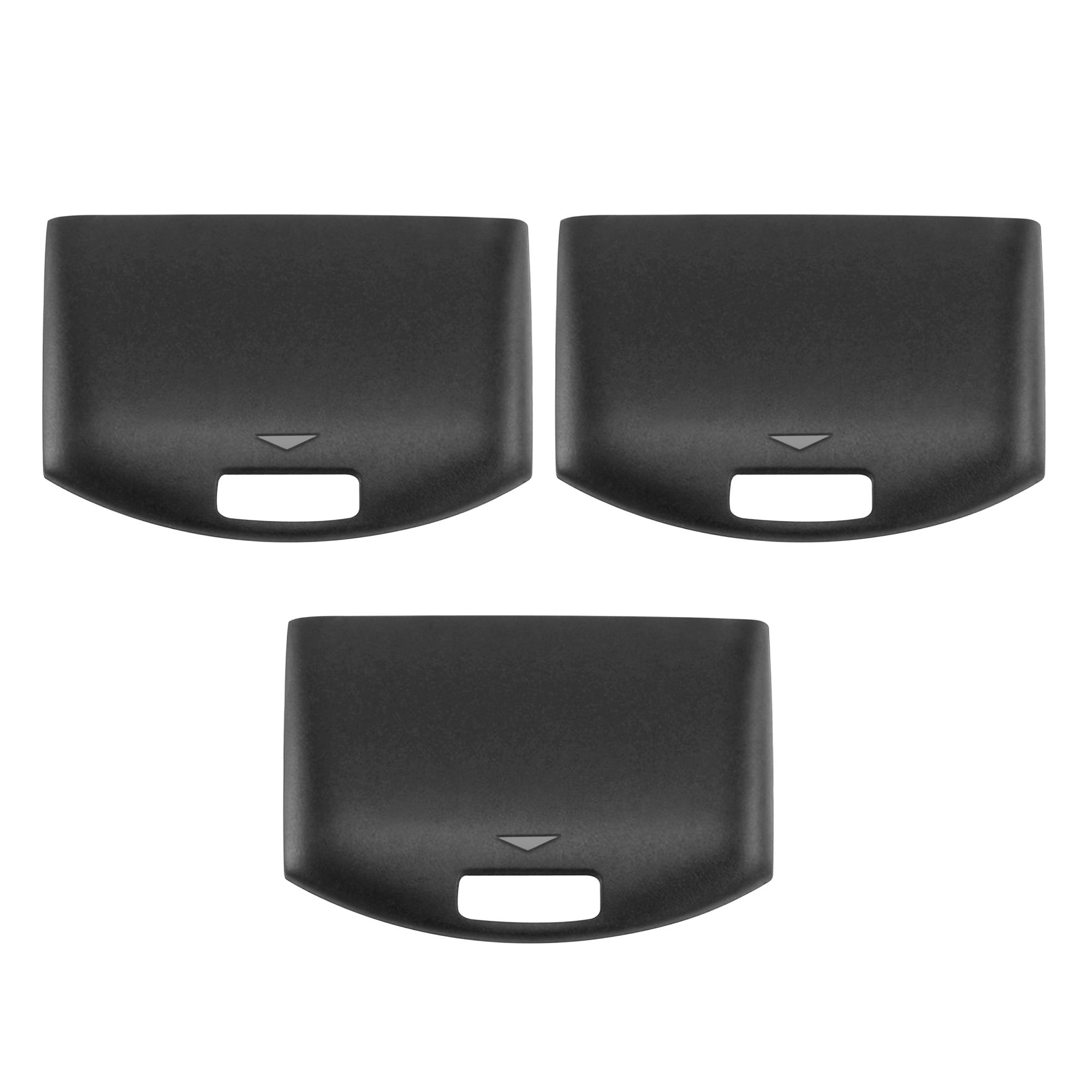 3-Pack Black Battery Door Cover Repair Parts by Insten For PSP 1000