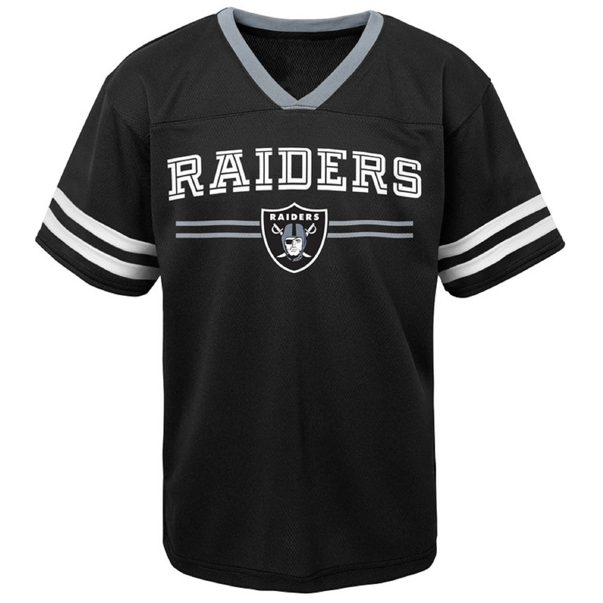Newborn & Infant Black Oakland Raiders Mesh Jersey T-Shirt