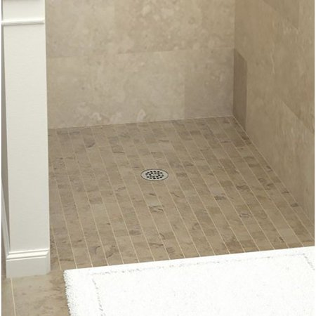 Tile Redi Barrier Free Shower Pan.Tile Redi 4638cbf 46 X 38 Three Wall Alcove Barrier Free Shower Pan With 2 Ce