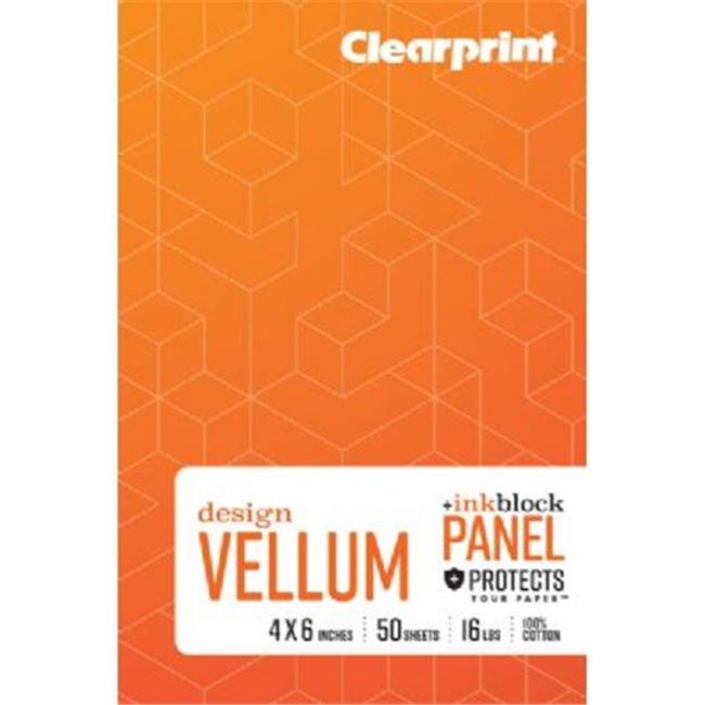 Clearprint 1000H Transparent Vellum Plain Pad 8.5x11""