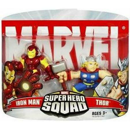 Marvel Super Hero Squad Series 2 Iron Man & Thor Action Figure 2-Pack (Reptil Super Hero Squad)