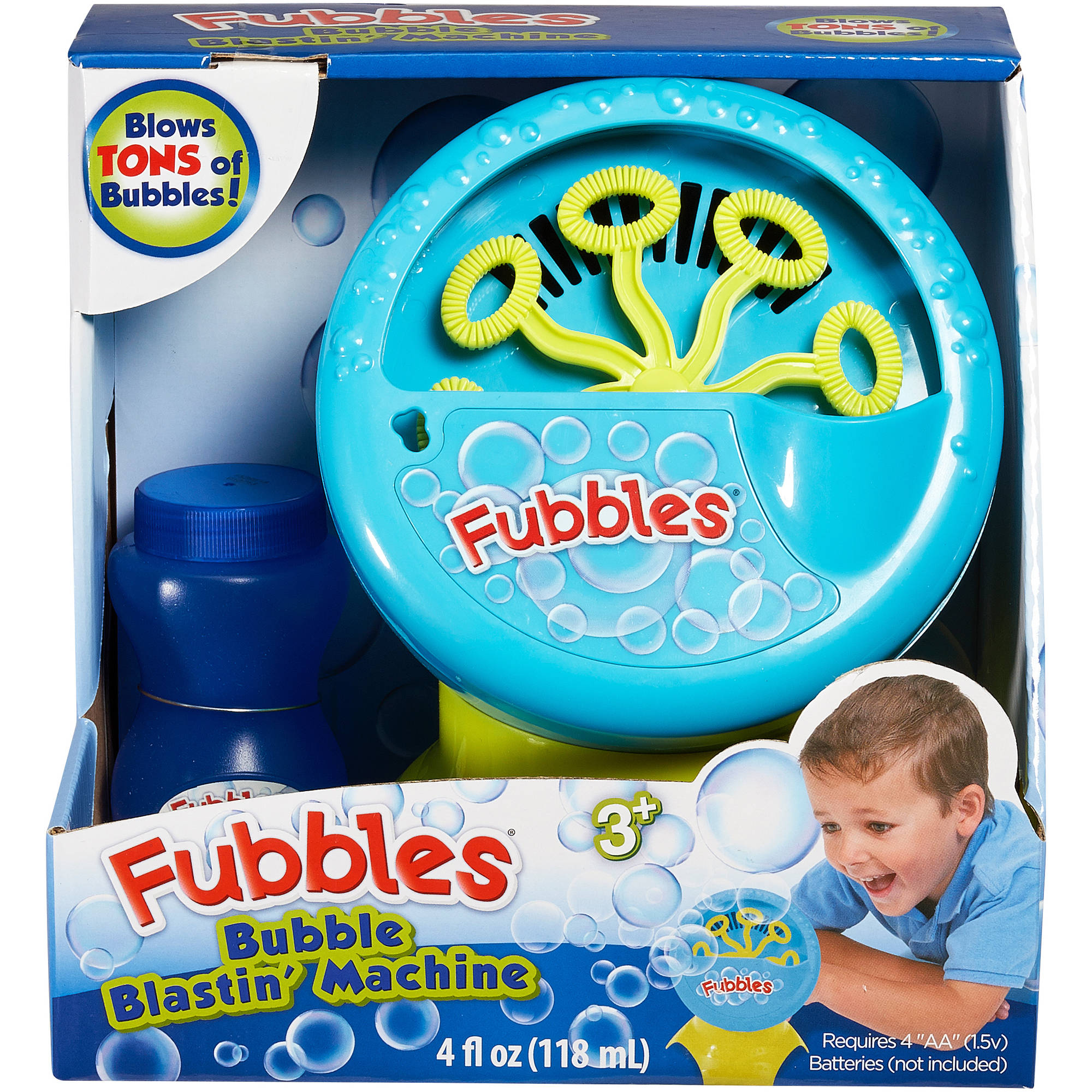 Little Kids Fubbles Bubble Blastin' Machine, Blue